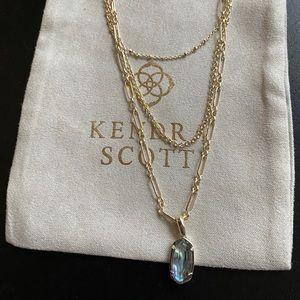 Kendra Scott Elisa Triple Layered Necklace NWT